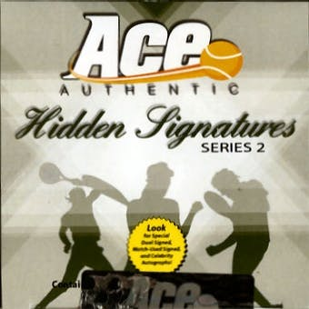 2010 Ace Authentic Hidden Signatures Series 2 Tennis Hobby Box