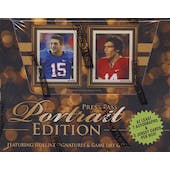 2010 Press Pass Portrait Edition Football Hobby Box