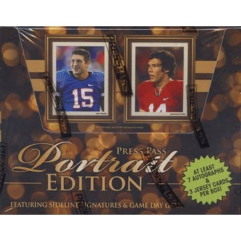 2010 Press Pass Portrait Edition Football Hobby Box