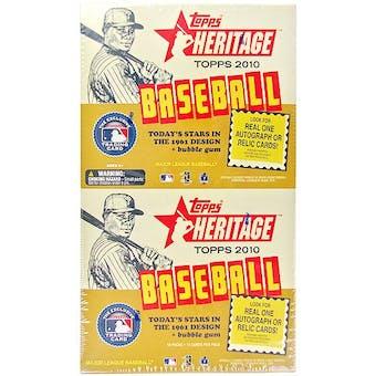 2010 Topps Heritage Baseball Rack Pack Box (18 Packs)