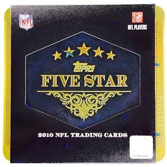 2010 Topps Five Star Football Hobby Box (Tin)