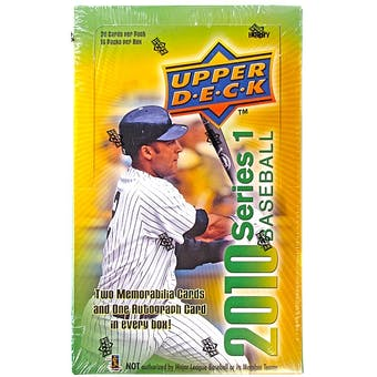 2010 Upper Deck Baseball Hobby Box