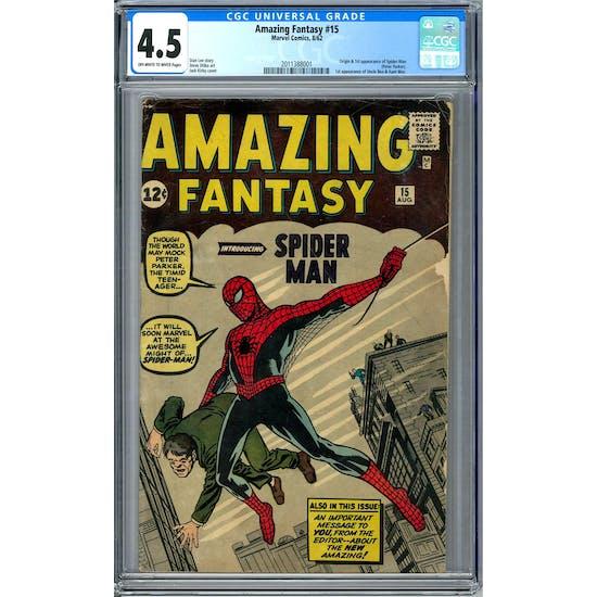 Amazing Fantasy #15 CGC 4.5 (OW) *2011388001*
