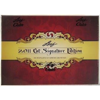 2011 Leaf Cut Signature Edition Hobby Box