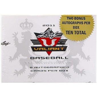 2011 Leaf Valiant Baseball Hobby Box