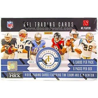2011 Panini Totally Certified Football Hobby Box