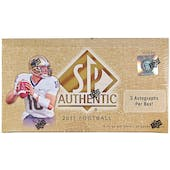 2011 Upper Deck SP Authentic Football Hobby Box