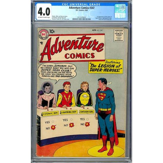 Adventure Comics #247 CGC 4.0 (OW-W) *2012378003*