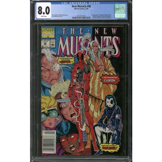 New Mutants #98 CGC 8.0 (W) *2012571018*