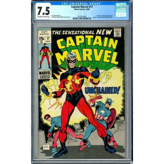 Captain Marvel #17 CGC 7.5 (OW-W) *2012616008*
