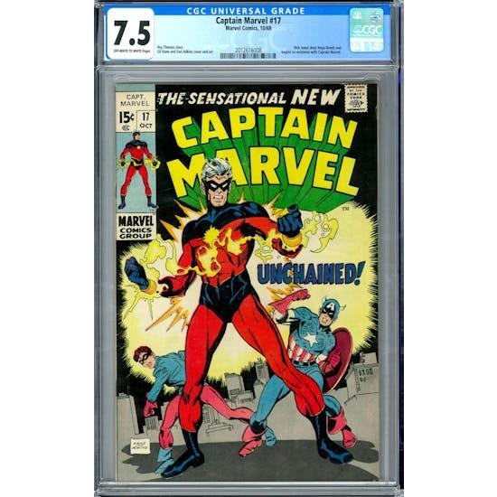 Captain Marvel #17 CGC 7.5 (OW-W) *2012616008*