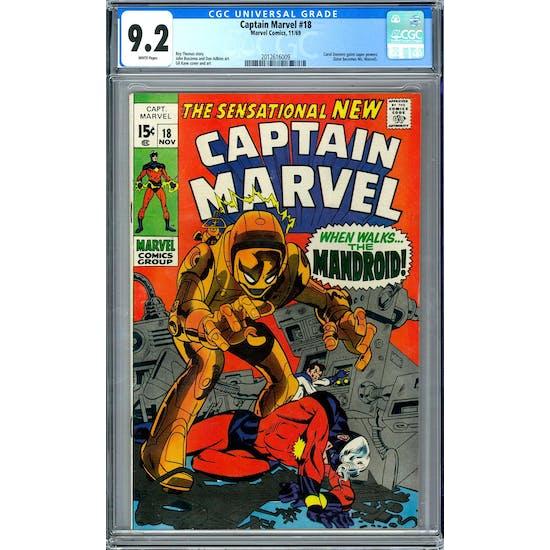 Captain Marvel #18 CGC 9.2 (W) *2012616009*