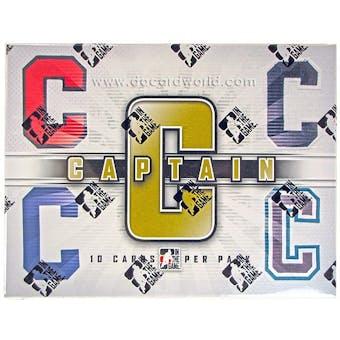2011/12 In The Game Captain-C Hockey Hobby Box