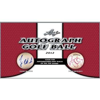 2012 Leaf Autographed Golf Ball Hobby Box