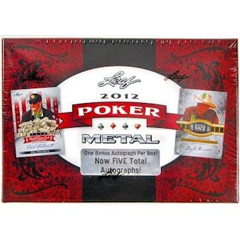 2012 Leaf Metal Poker Trading Cards Hobby Box