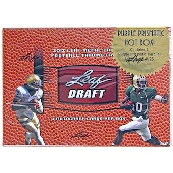 2012 Leaf Metal Draft Football Hobby HOT Box