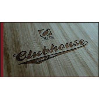 2012 Onyx Clubhouse Collection Lumber Edition Baseball Hobby Box