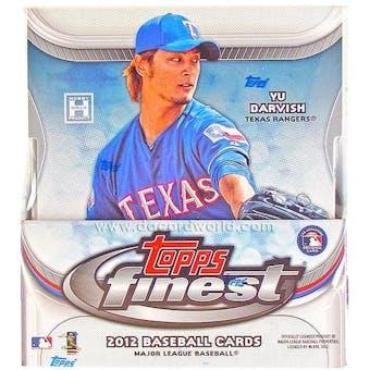 2012 Topps Finest Baseball Hobby Box