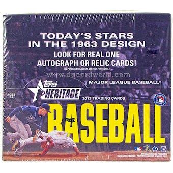 2012 Topps Heritage Baseball Retail 24-Pack Box