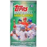 2012 Topps Baseball Mini Cards 24-Pack Box