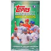 2012 Topps Baseball Mini Cards 24-Pack Box (Reed Buy)