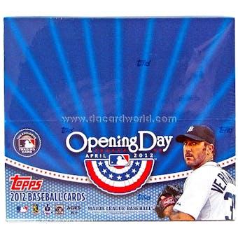 2012 Topps Opening Day Baseball Hobby Box