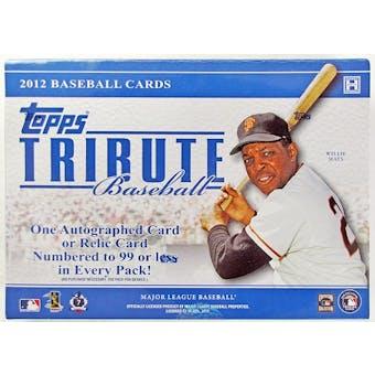 2012 Topps Tribute Baseball Hobby Box