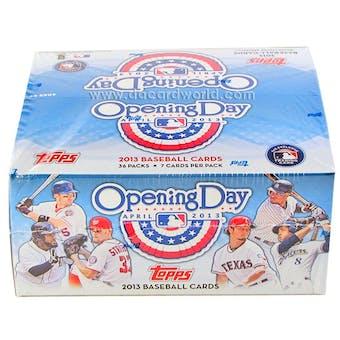 2013 Topps Opening Day Baseball Hobby Box