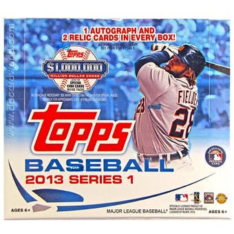 2013 Topps Series 1 Baseball Jumbo Box (Reed Buy)
