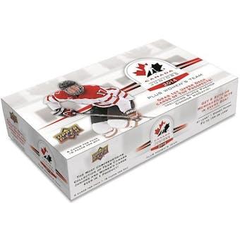 2014 Upper Deck Team Canada Juniors Hockey Hobby Box