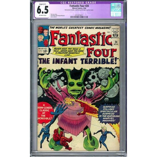 Fantastic Four #24 CGC 6.5 (OW) Restored Slight B-1 *2014214011*