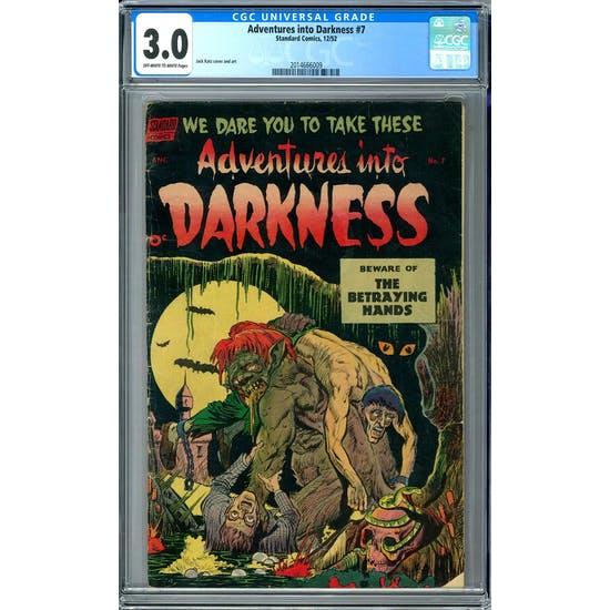 Adventures into Darkness #7 CGC 3.0 (OW-W) *2014666009*