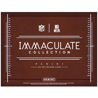 2014 Panini Immaculate Football Hobby 6-Box Case