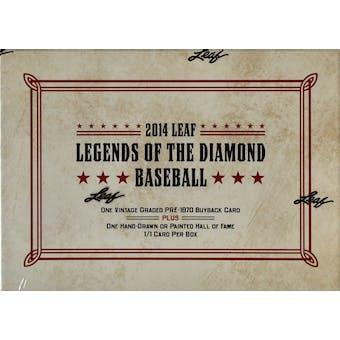 2014 Leaf Legends of the Diamond Baseball Hobby Box