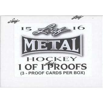 2015/16 Leaf Metal Hockey Pre-Production Proof Hobby Box