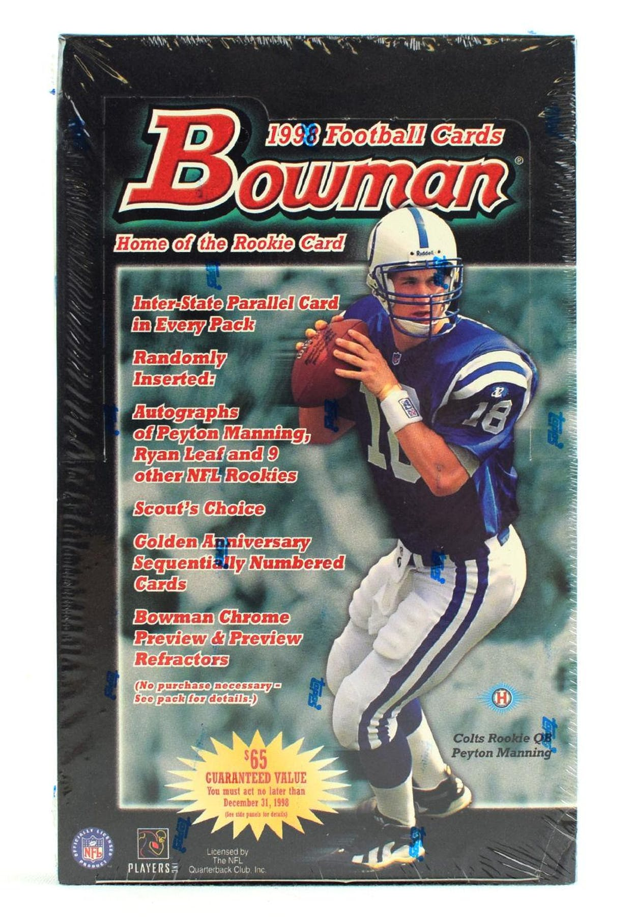 1998 Bowman Football Hobby Box Da Card World