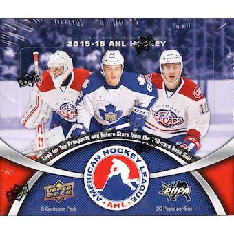 2015/16 Upper Deck AHL Hockey Hobby Box