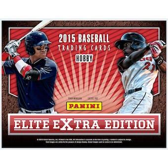 2015 Panini Elite Extra Edition Baseball Hobby Box