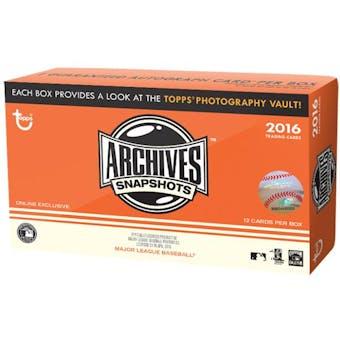 2016 Topps Archives Snapshots Baseball Box