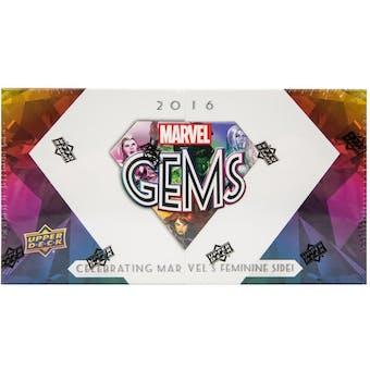 Upper Deck Marvel Gems Trading Cards Box (Upper Deck 2016)