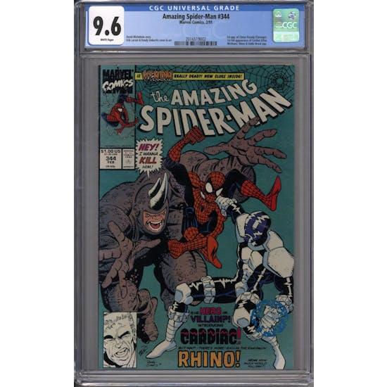 Amazing Spider-Man #344 CGC 9.6 (W) *2016519002*