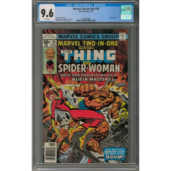 Marvel Two-In-One #30 CGC 9.6 (W) *2016540004*