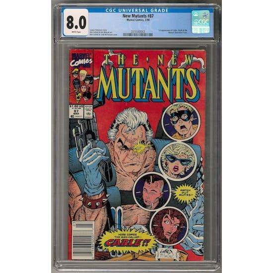 New Mutants #87 CGC 8.0 (W) Newsstand *2016560003*