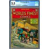 World's Finest Comics #66 CGC 3.5 (OW) *2016893001*