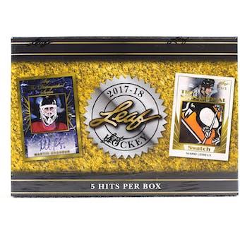 2017/18 Leaf Hockey Hobby Box