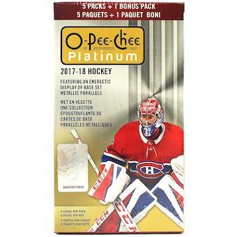 2017/18 Upper Deck O-Pee-Chee Platinum Hockey Blaster Box