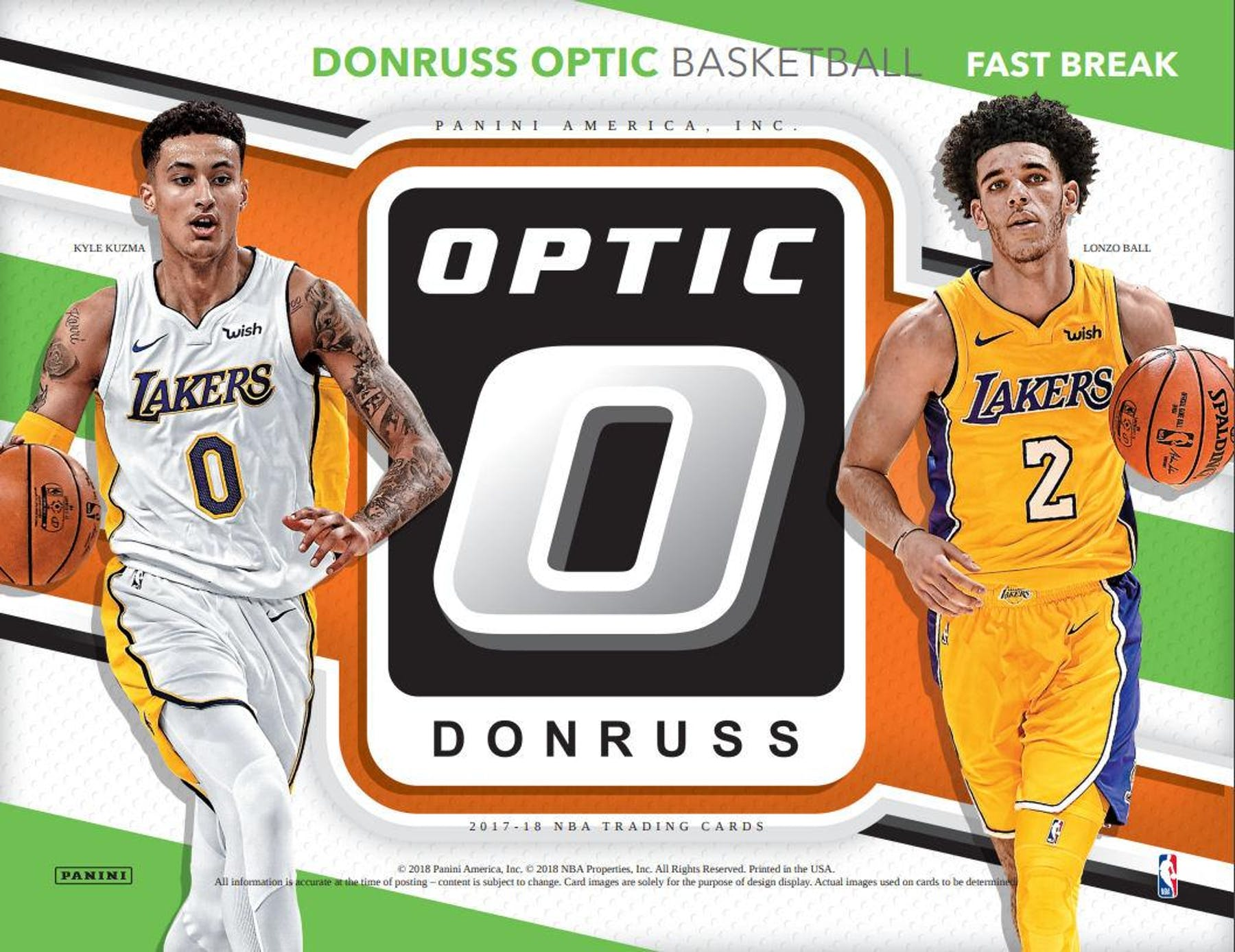 201718 Panini Donruss Optic Fast Break Basketball Pack