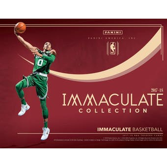 2017/18 Panini Immaculate Basketball 5-Box Case- DACW Live 30 Spot Pick Your Team Break #1