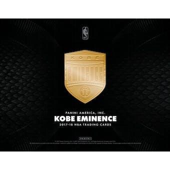 2017/18 Panini Kobe Eminence Basketball Hobby Case