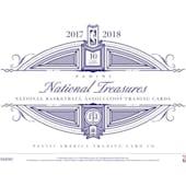 2017/18 Panini National Treasures Basketball Hobby 4-Box Case